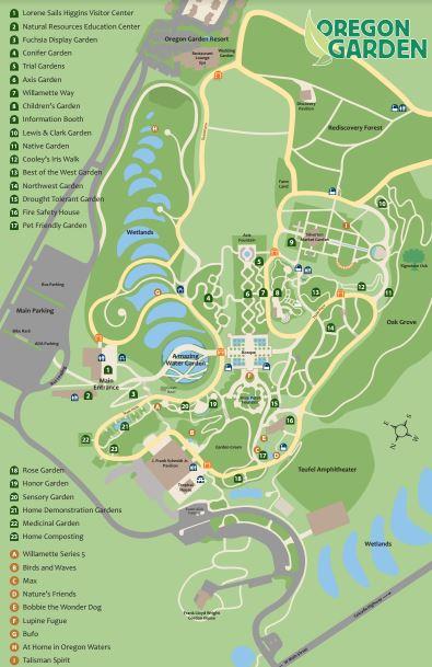 map The Oregon Garden