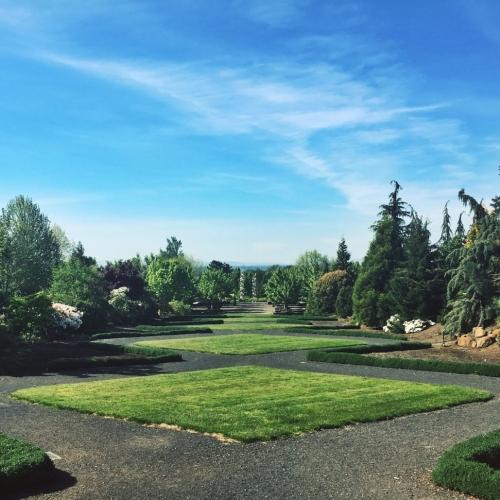 Themed Gardens at the Oregon Garden Silverton Oregon